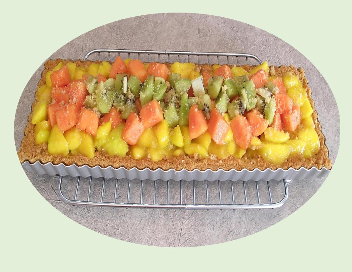 Glazed Tropical Fruit Tart