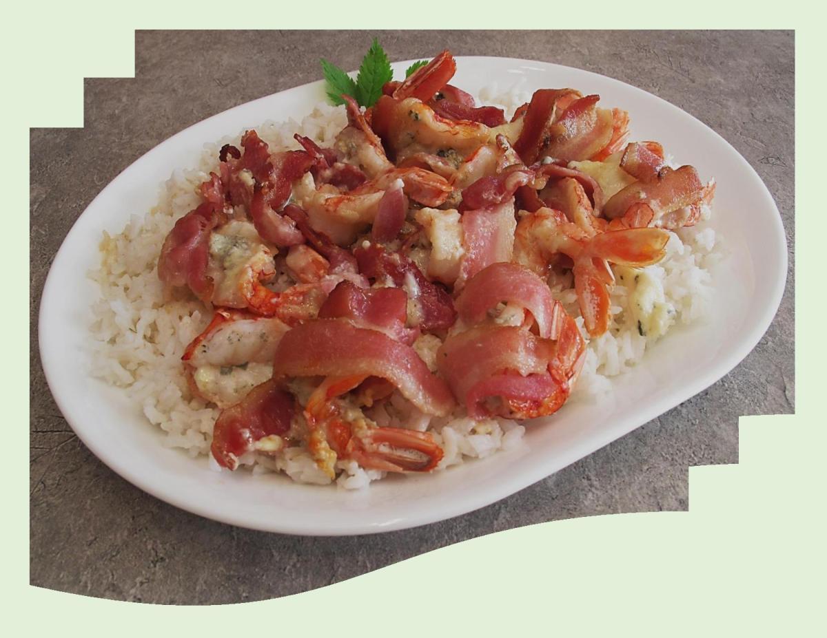 Gorgonzola Stuffed Shrimp Wrapped in Bacon