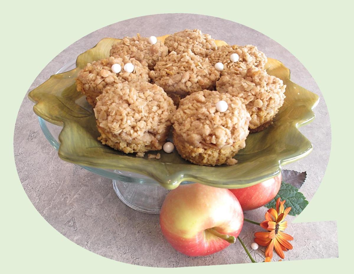 Dutch Apple Pumpkin Cheesecakes