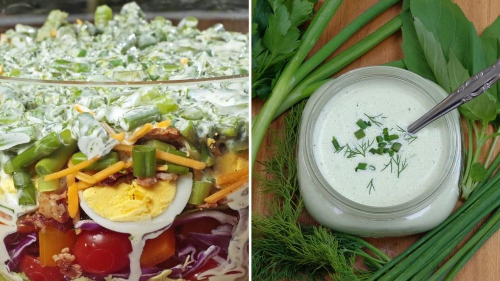 Rainbow Layer Salad collage
