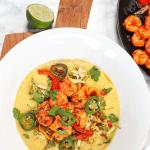Pin The recipe for later! Creamy Polenta with Cajun Shrimp