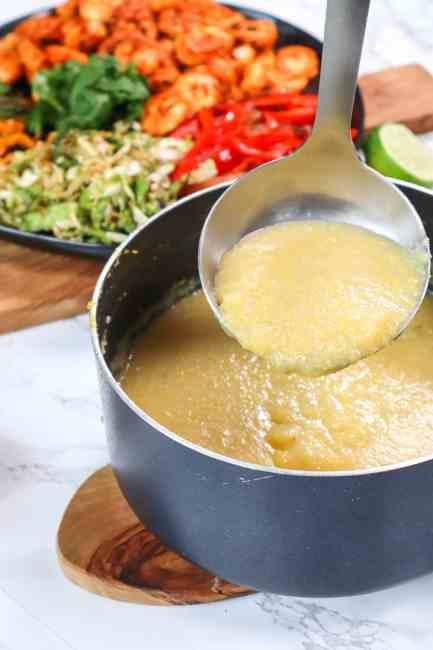 polenta with cajun shrimp brunch