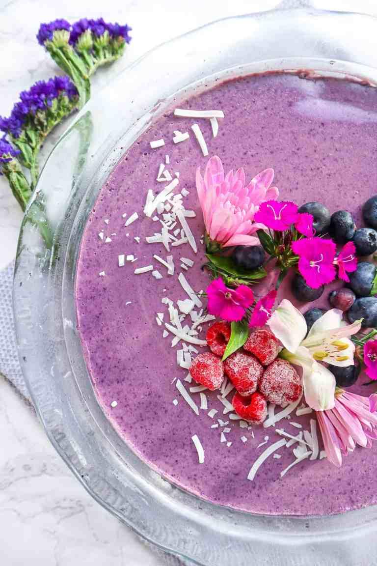 GFB Vegan blueberry cheesecake