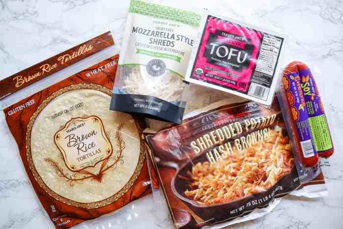 ingredients for vegan quesadilla