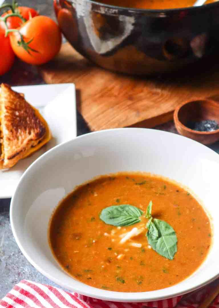 roasted tomato basil soup gfb