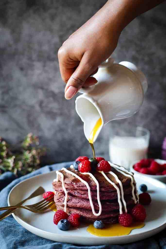 healthy-red-velvet-beetroot-pancakes
