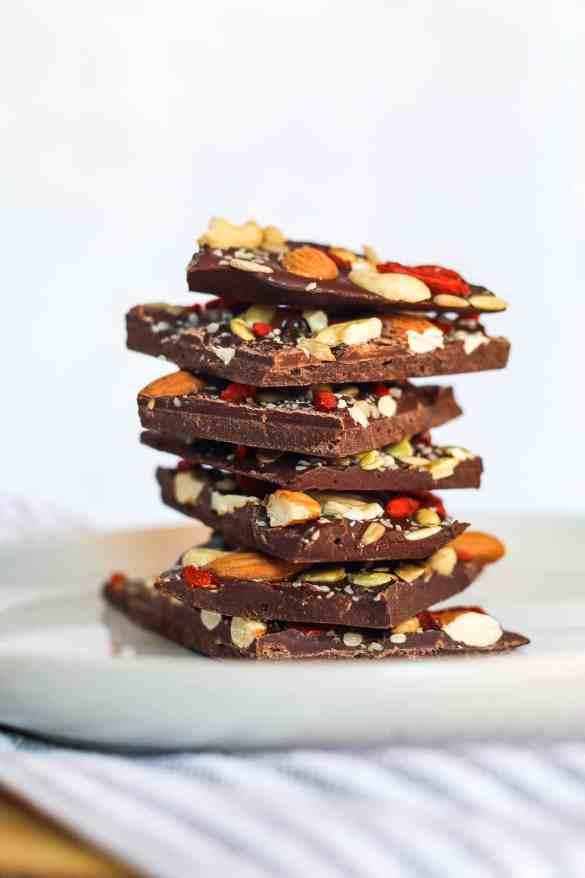 Chocolate Bark Recipe with Sea Moss, healthy, easy recipe