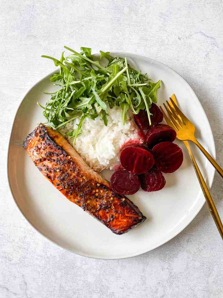 3-Ingredient Honey Garlic Air Fryer Salmon