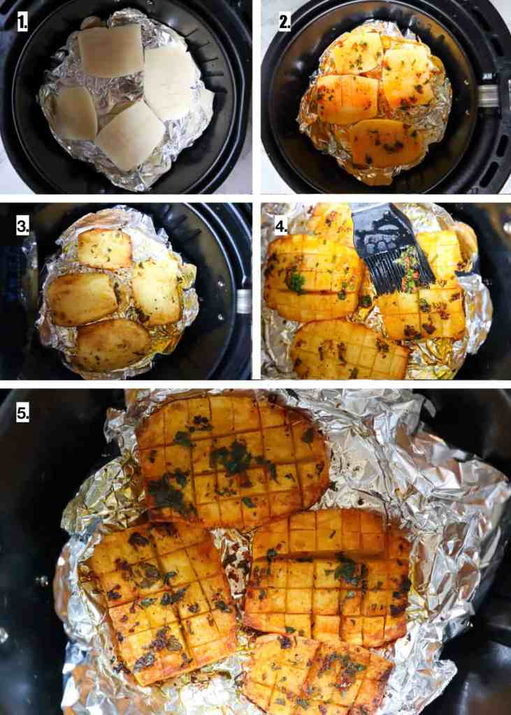 how to make hasselback waffle potatoes in the air fryer