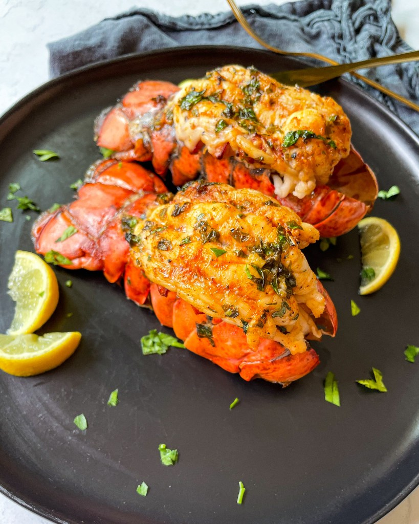 Lobster tail made in the air fryer