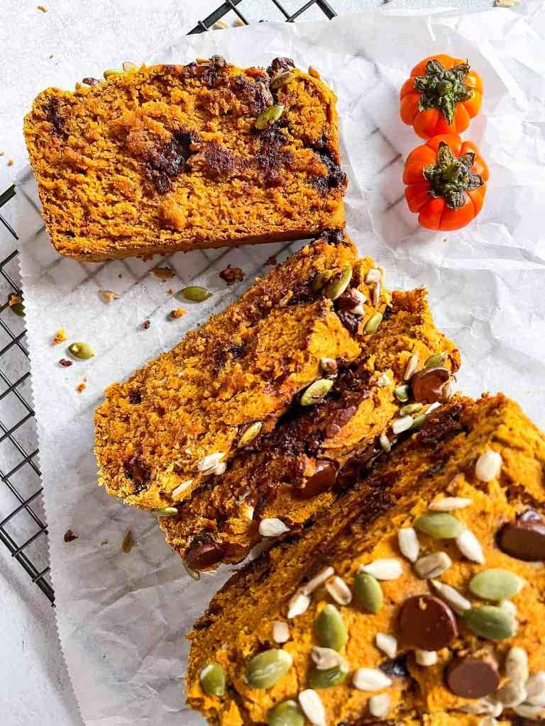 super moist vegan pumpkin bread gluten free