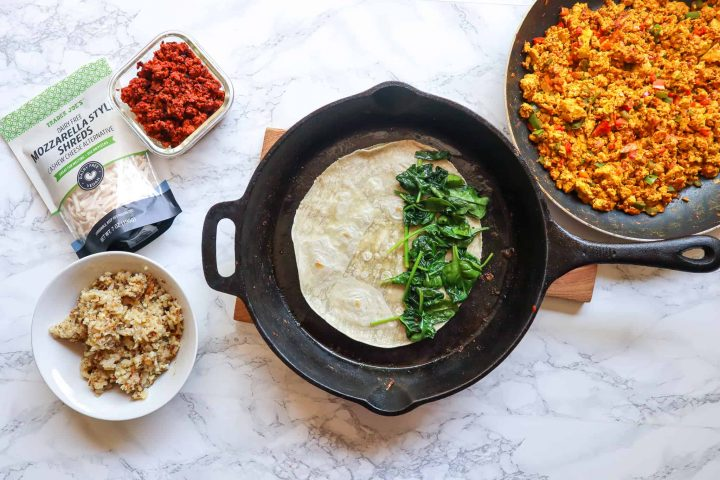 how to make a breakfast quesadilla vegan