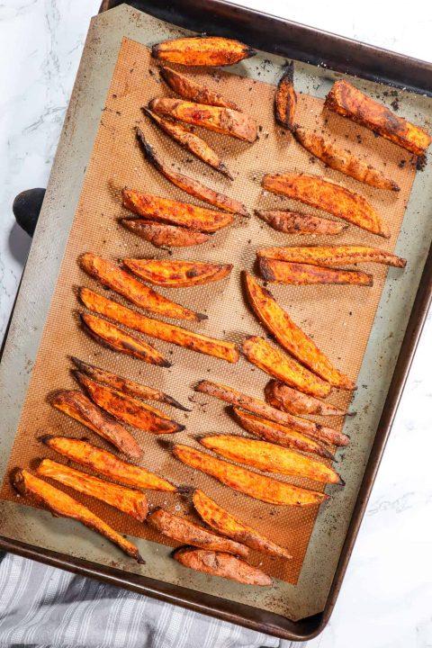 crispy baked sweet potato fries gfb