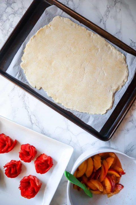 flattened ingredients for gluten free galette