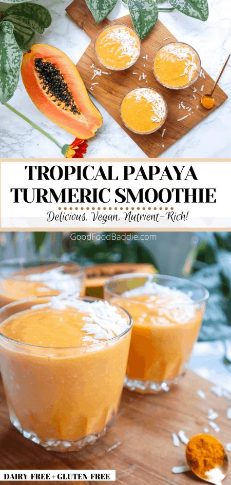 Pin It! Papaya Smoothie Recipe!