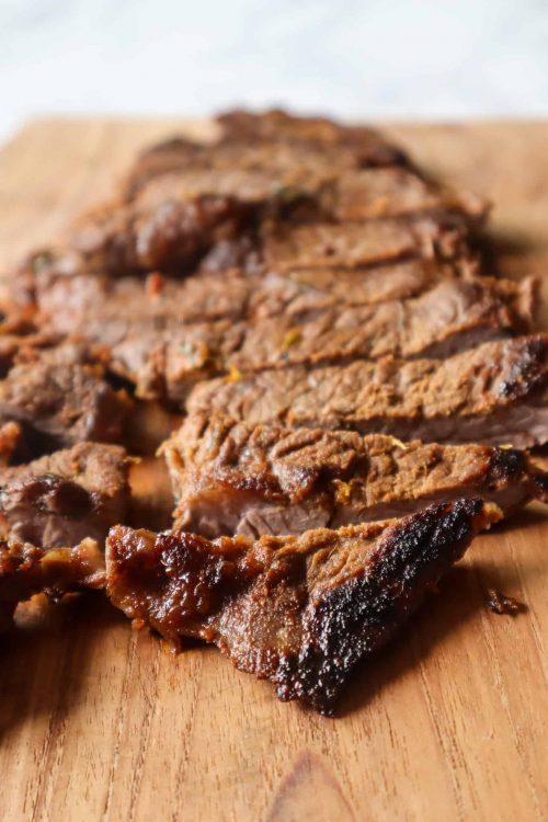sliced carne asada