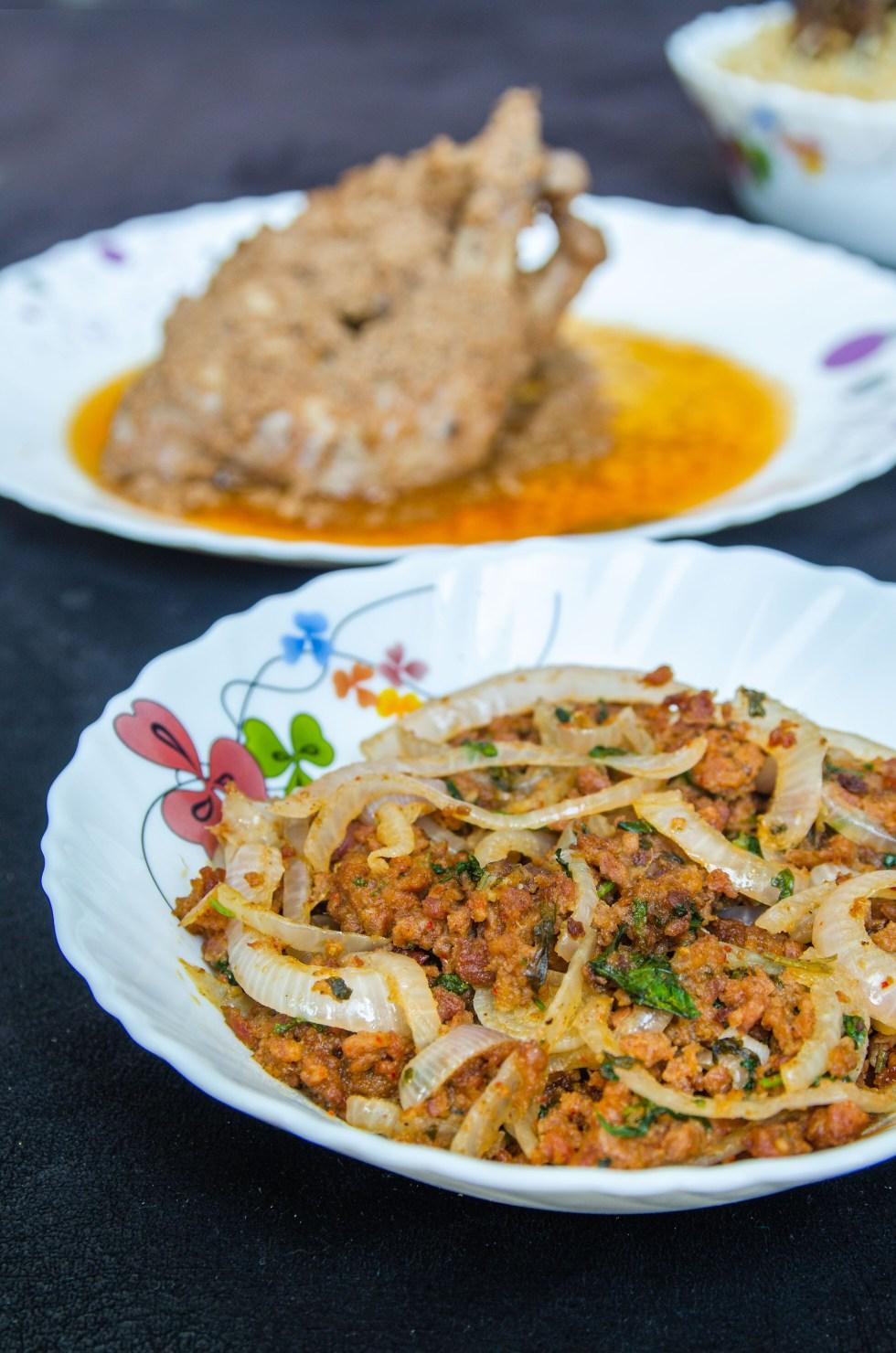 Mutton Shaami Kebab Bhurji from Haan D Biryani