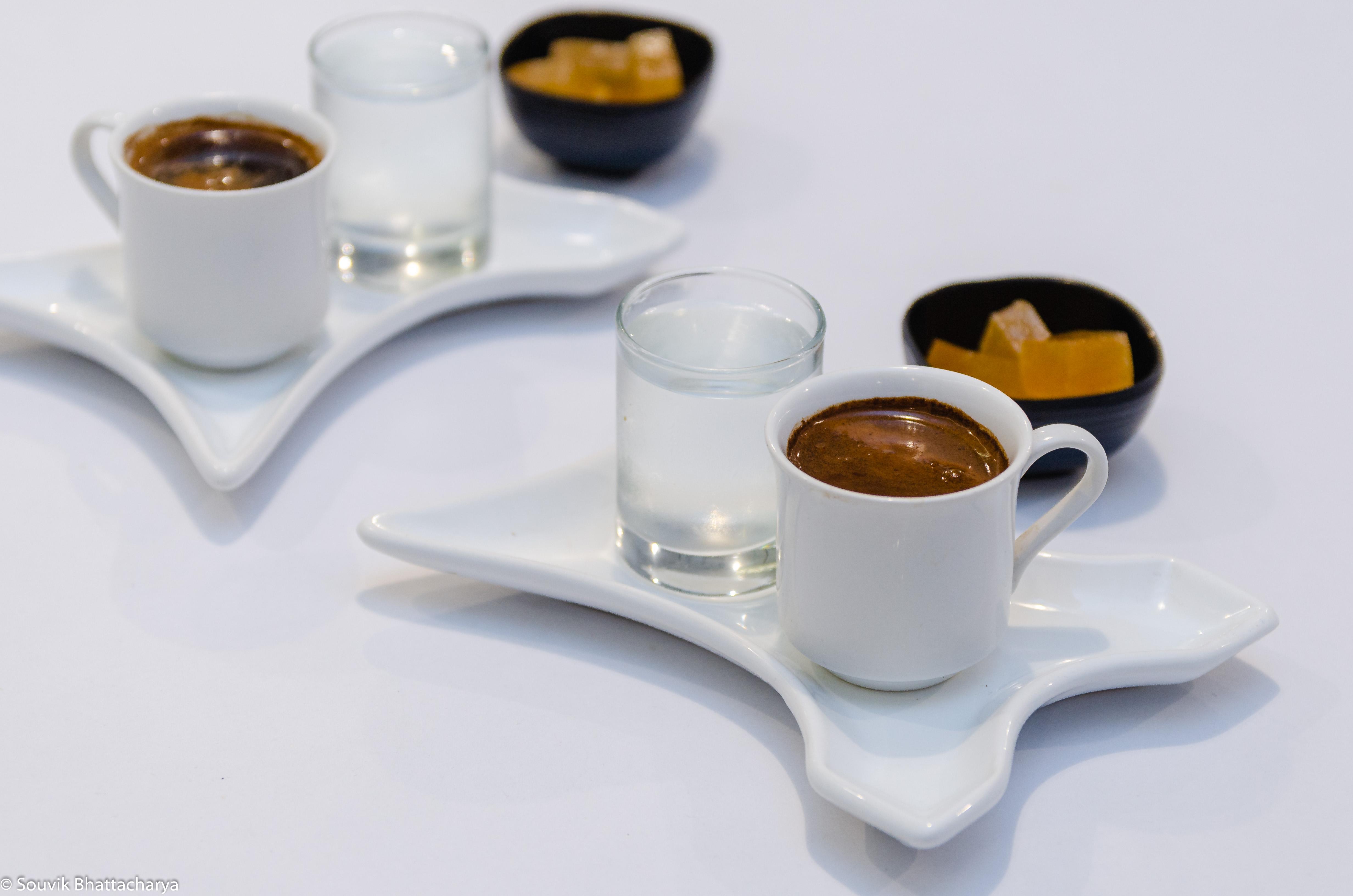 Turkish Coffee in Wokies two-dimensional restaurant