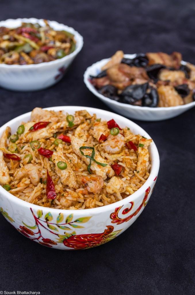 Sichuan Fried Rice at Royal Jade Kolkata