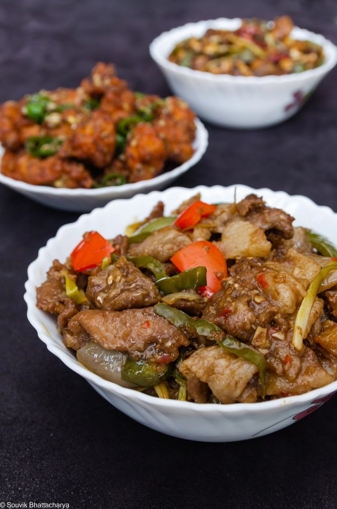 Chili Pork at Royal Jade Kolkata