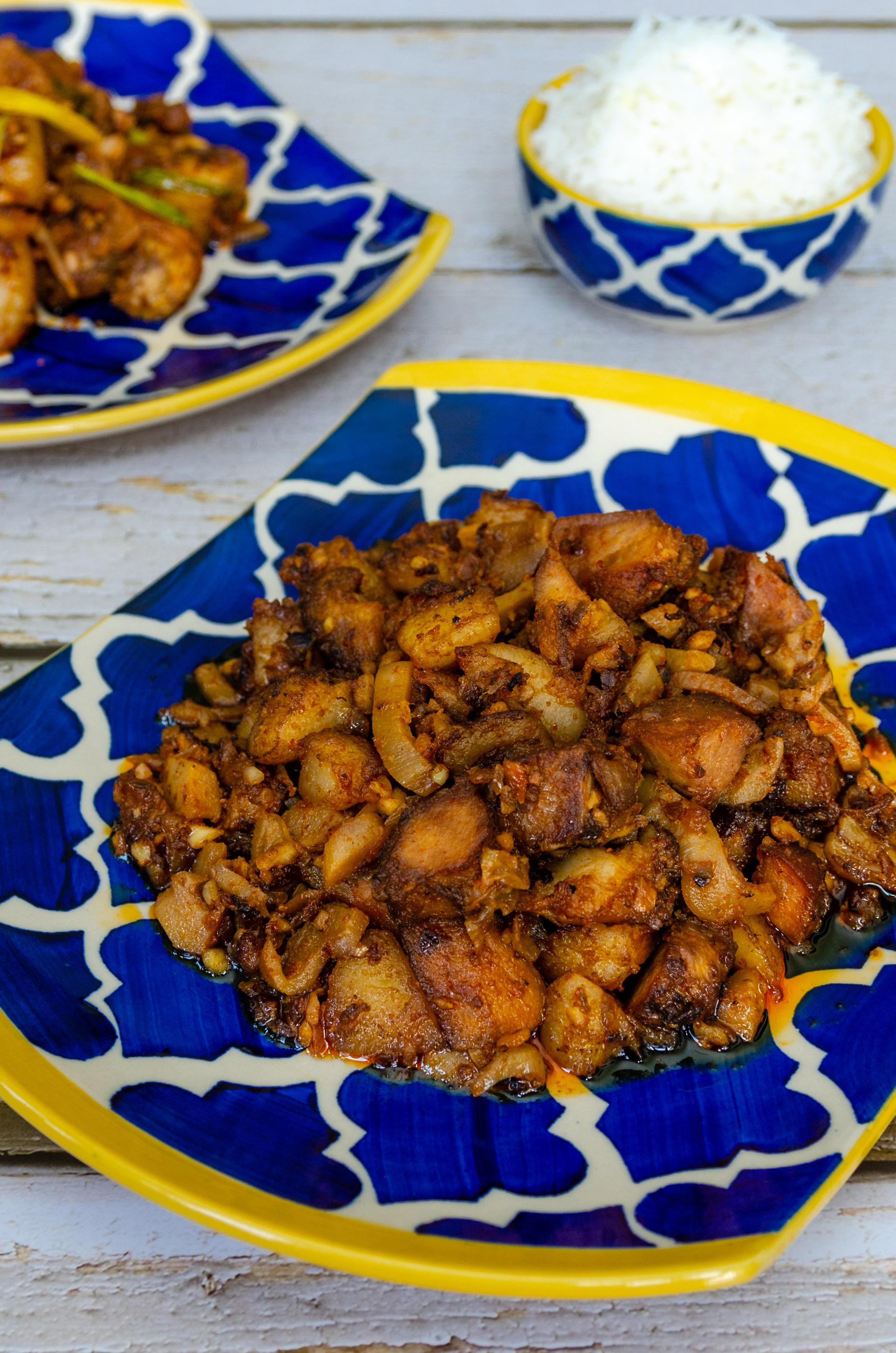 Sunga Pork, Pork cooked inside Bamboo Tube, Let's Poaka. Kolkata