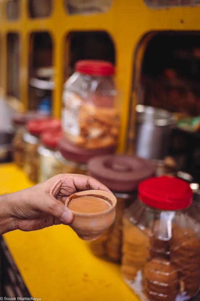 Kumartuli food - Tram Tea Modon Pal