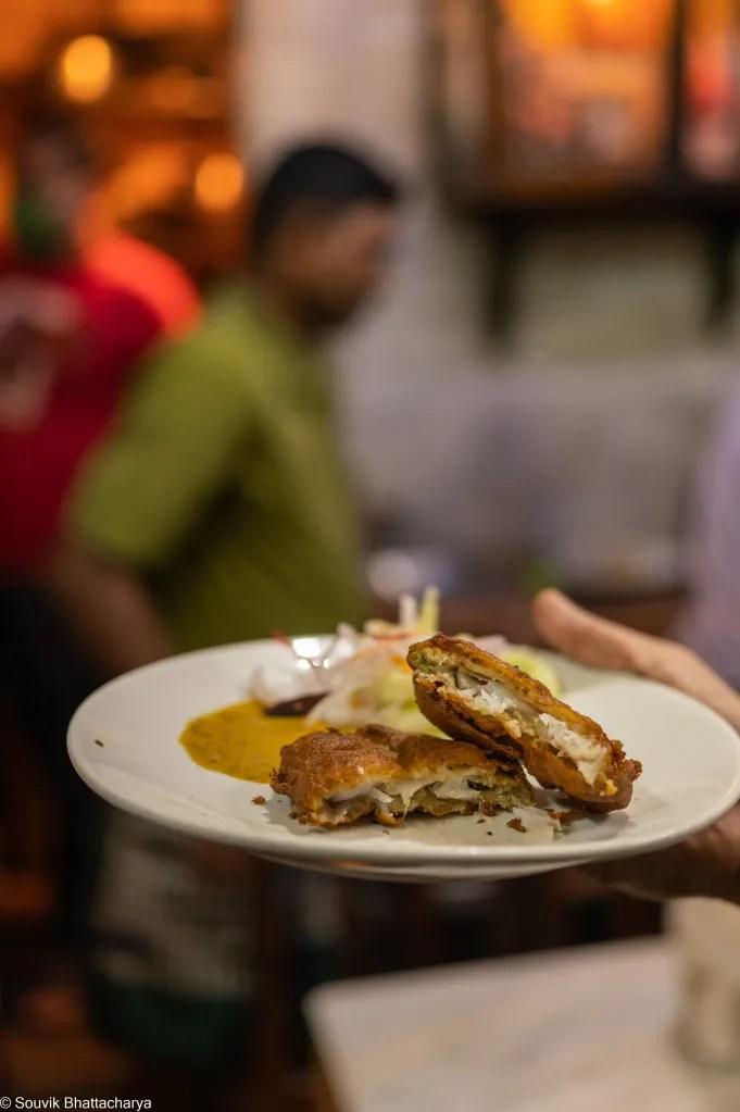Kumartuli food - Dhiren Cabin - Fish Cutlet