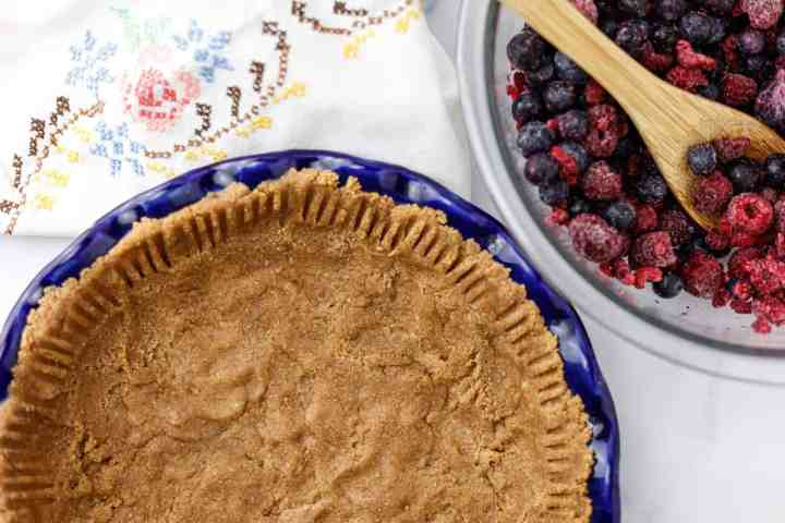 healthy oil free whole wheat pie crust