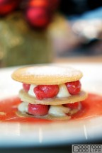 guava mille feuille, creme patissier, guava consomme