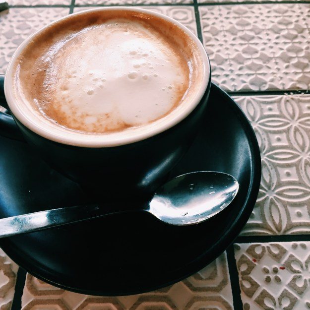 A delicious cup of coffee from the Belconnen Markets