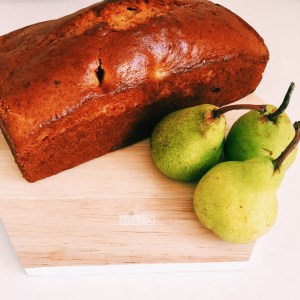 Recipe: Pear and raspberry loaf