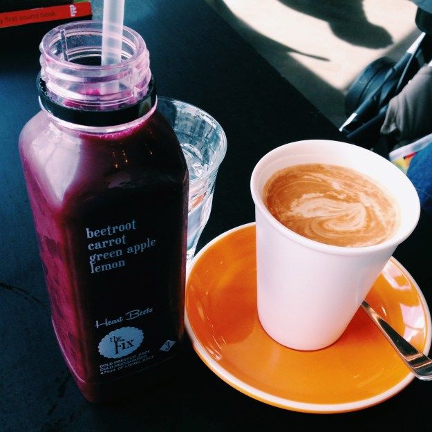 Drink juice from 'The Fix' at Eighty/Twenty in Braddon