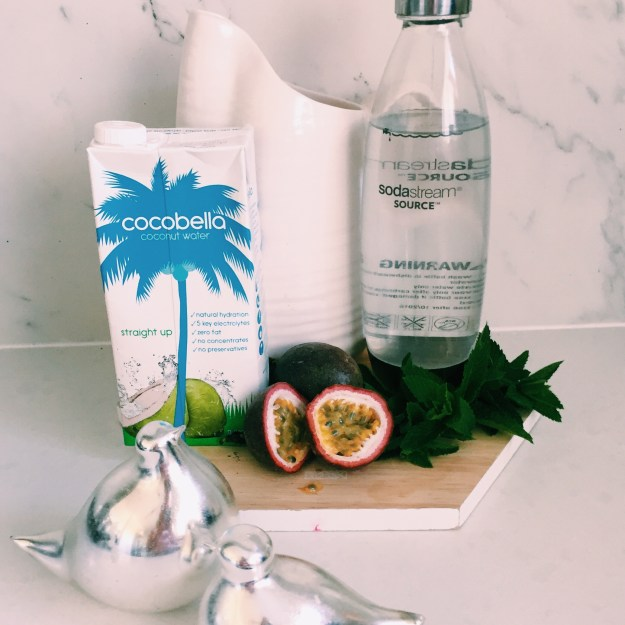 GoodFoodWeek's passionfruit, mint and coconut water mocktail