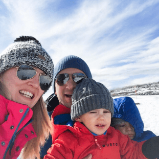 GoodFoodWeek and family at the snow
