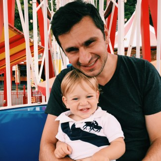 The Little Dude with Daddy