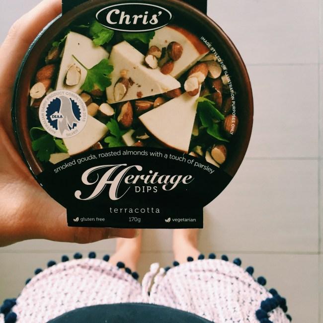 Chris' dip - gouda and almond