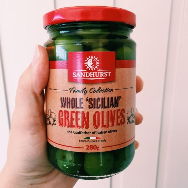 Sandhurst whole Sicilian olives