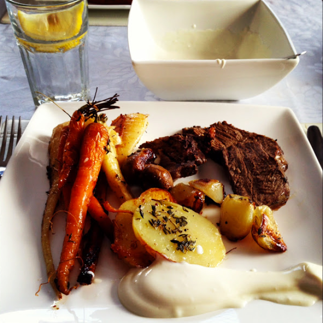 GoodFoodWeek's peppered beef and roast veggies