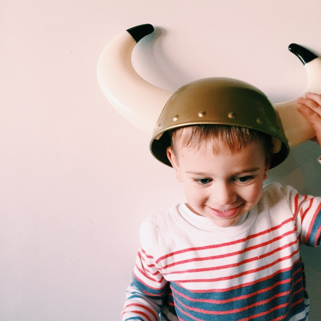 My little viking - The Little Dude at 2yrs 9 months