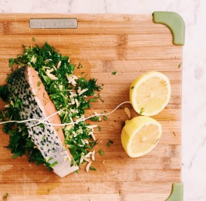 Christmas in July - Baked Stuffed Salmon