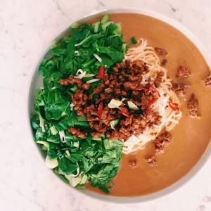 Recipe: Pork dan dan noodles (and a vegan option)