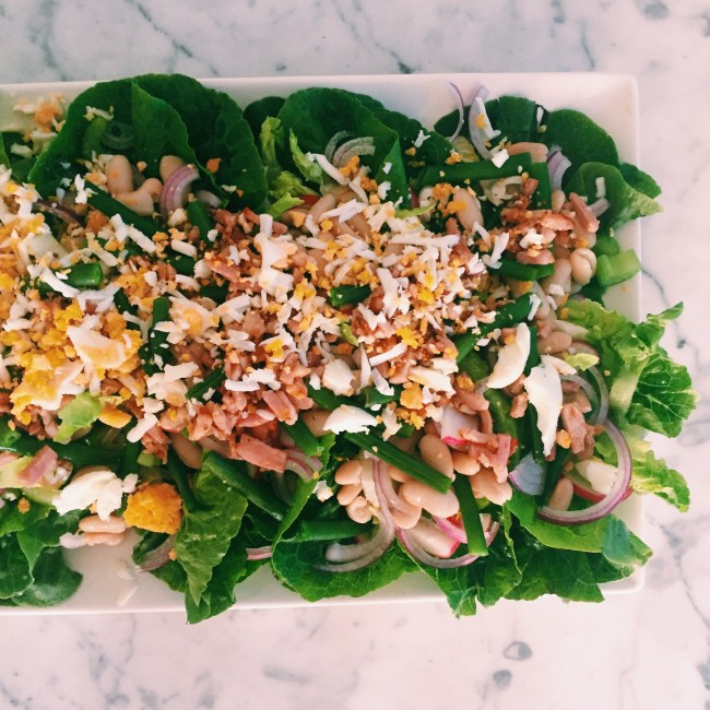 Recipe: Egg and Bacon salad