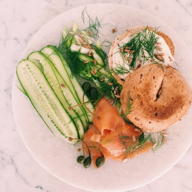 GoodFoodWeek - smoked salmon bagels