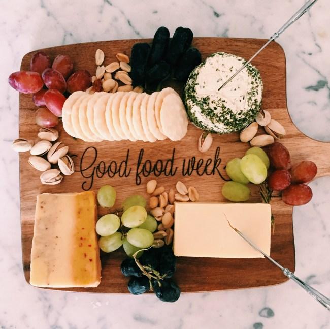 GoodFoodWeek - cheese platter