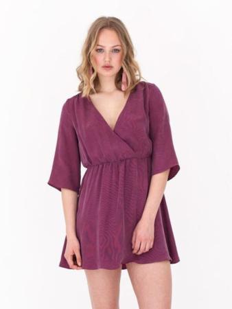 Roze velvet jurk - Noumenon - €205
