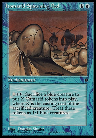 Homarid Spawning Bed Magic Card