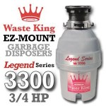 Waste King Legend Series ¾ HP Continuous Feed Garbage Disposal with Power Cord – (L-3300) Reviews