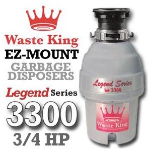 Waste King Legend Series ¾ L-3300 Reviews