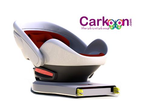 Carkoon autoseat-autostoeltje voor baby met airbag-autostoeltje beschermt tegen brand
