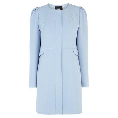 John Lewis_coast Nolita crepe coat pale blue_ Look a like Seraphine Cashmere coat_Kate Middleton